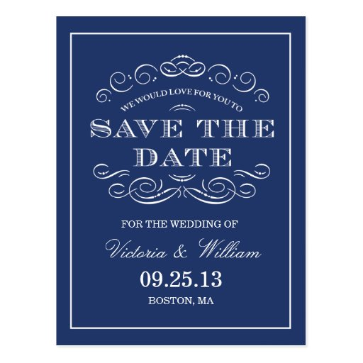 CLASSY WEDDING  | SAVE THE DATE ANNOUNCEMENT POSTCARDS