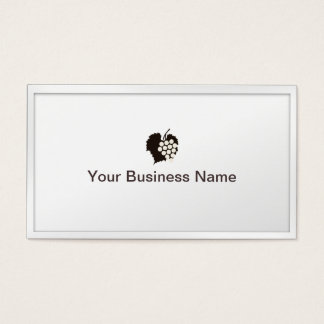 Classy White Border Grapes Winery Business Card