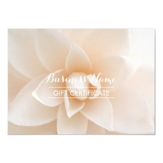 Classy White Floral Gift Certificate Card
