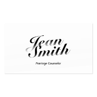 Classy White Marriage Counselling Business Card