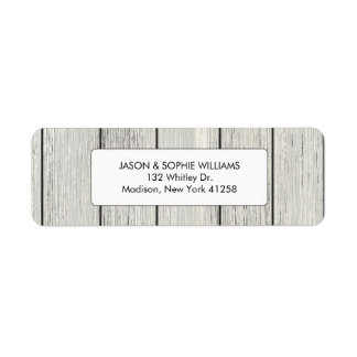 Classy White Painted Wood Return Address Label