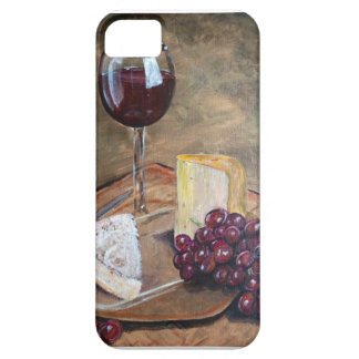 Classy Wine and Cheese Art iPhone 5 Case