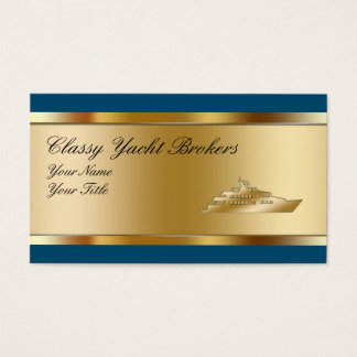 Classy Yacht Broker Business Cards