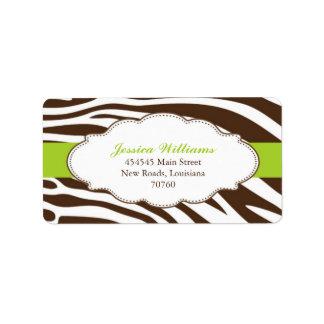 Classy Zebra Label