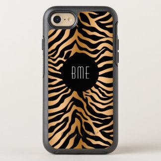 Classy Zebra Stripes Monogram OtterBox Symmetry iPhone 7 Case