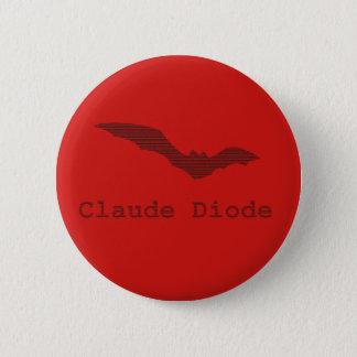 Claude Diode Bat Logo Badge 2 Inch Round Button