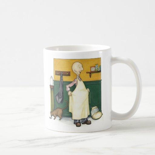 Claude le boulanger - préparation de matin mugs à café