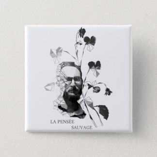 Claude Levi-Strauss 2 Inch Square Button