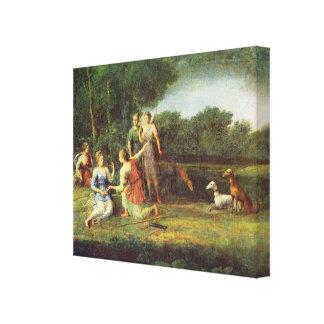 Claude Lorrain Artwork Canvas Print