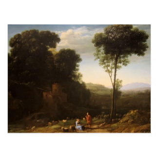 Claude Lorrain- Pastoral Landscape with a Mill Postcard