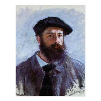 Claude Monet a Self-Portrait postcard
