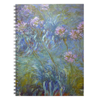 Claude Monet - Agapanthus Classic Flowers Painting Notebook