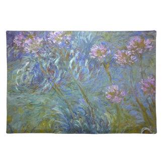 Claude Monet - Agapanthus Classic Flowers Painting Placemat