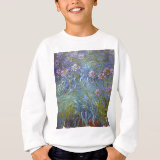 Claude Monet - Agapanthus Classic Flowers Painting Sweatshirt