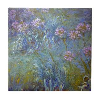 Claude Monet - Agapanthus Classic Flowers Painting Tile