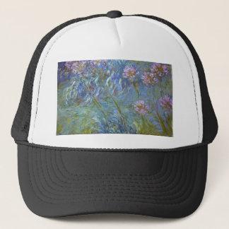 Claude Monet - Agapanthus Classic Flowers Painting Trucker Hat