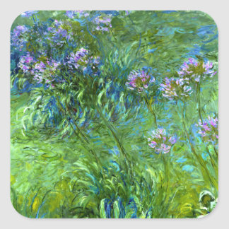 Claude Monet: Agapanthus Square Sticker