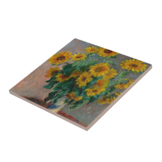 Claude Monet and Sunflower Tiles