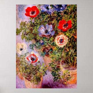 Claude Monet: Anemones Poster