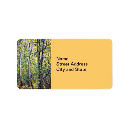 Claude Monet art: Wood Lane, painting by Monet Label