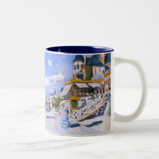 Claude Monet: At the Beach of Trouville Two-Tone Coffee Mug