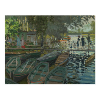 Claude Monet - Bathers at La Grenouillere Postcard