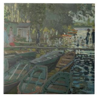 Claude Monet - Bathers at La Grenouillere Tile