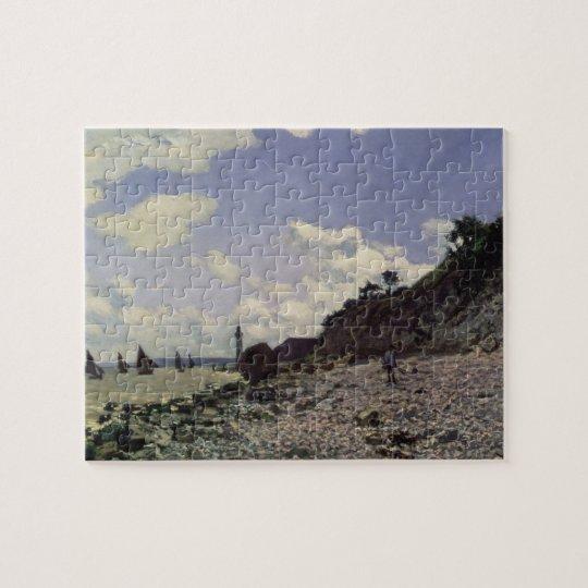 Claude Monet   Beach at Honfleur, 1864 Jigsaw Puzzle