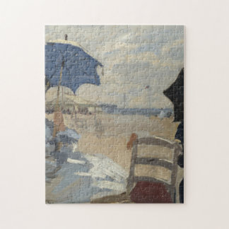 Claude Monet Beach Scene Jigsaw Puzzle