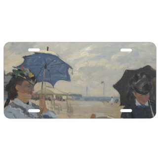 Claude Monet Beach Scene License Plate