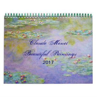 Claude Monet Beautiful Scenic Fine Art Wall Calendars