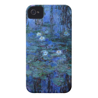 Claude Monet Blue Water Lilies iPhone 4 Case-Mate Cases