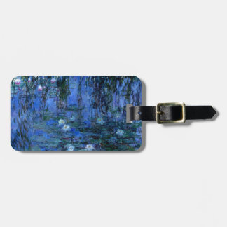 Claude Monet Blue Water Lilies Luggage Tag