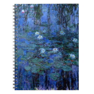 Claude Monet Blue Water Lilies Notebook