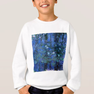 Claude Monet Blue Water Lilies Sweatshirt