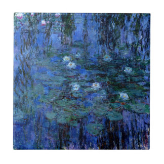 Claude Monet Blue Water Lilies Tile
