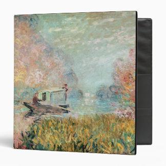 Claude Monet    Boat Studio on the Seine 3 Ring Binder