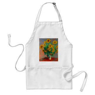 Claude Monet Bouquet of Sunflowers Standard Apron