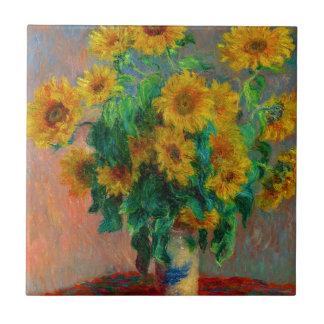 Claude Monet Bouquet of Sunflowers Tile