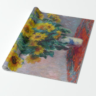 Claude Monet Bouquet of Sunflowers Wrapping Paper