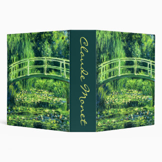 Claude Monet: Bridge Over a Pond of Water Lilies 3 Ring Binder