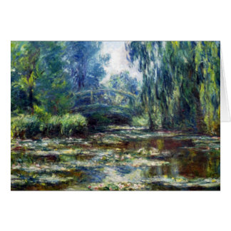 Claude Monet Bridge Over Water Lily Pond Card