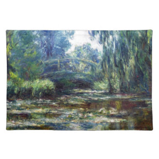 Claude Monet Bridge Over Water Lily Pond Placemat