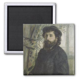 Claude Monet by Pierre-Auguste Renoir Magnet