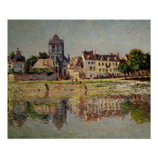 Claude Monet   By the River at Vernon, 1883 Poster