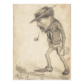 Claude Monet c. 1855-1856 Technique Graphite, on t Postcard
