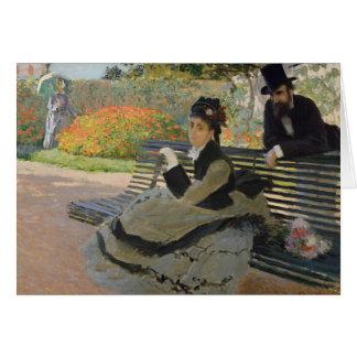 Claude Monet - Camille Monet on a Bench Card