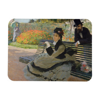 Claude Monet - Camille Monet on a Bench Magnet