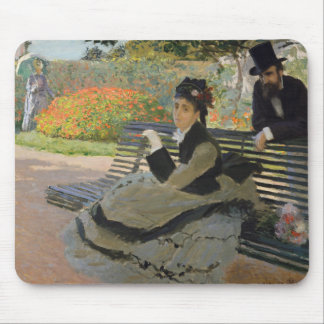 Claude Monet - Camille Monet on a Bench Mouse Pad