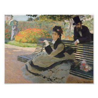 Claude Monet - Camille Monet on a Bench Photo Print